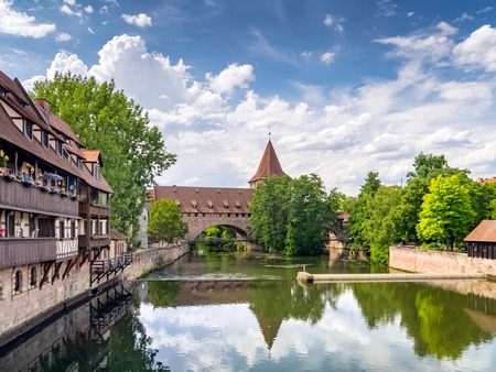 The historic old town of Nuremberg in Franconia Stok Fotoğraf