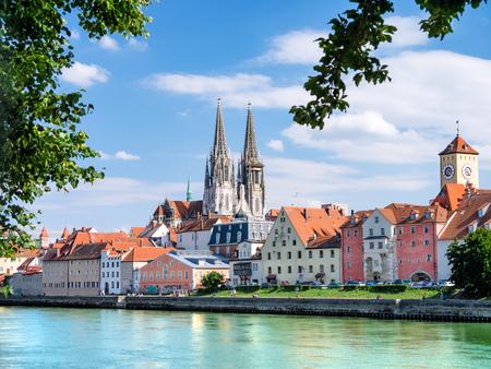 de Beierse stad Regensburg in der Oberpfalz Stockfoto