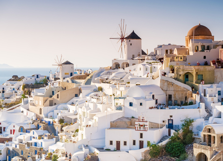 Impressions from the greek island santorini in the mediterranean sea Stock fotó - 89414446