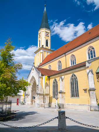 the bavarian city of regensburg in der oberpfalz 写真素材