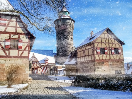 The historic old town of Nuremberg in Franconia 写真素材