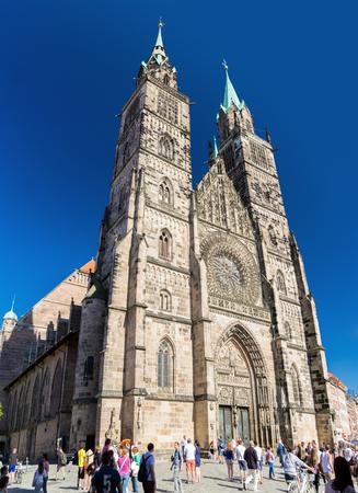 The historic old town of Nuremberg in Franconia Redactioneel