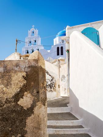 Impressions from the greek island santorini in the mediterranean sea