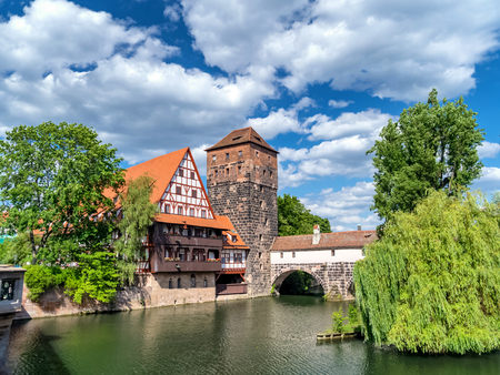 The historic old town of Nuremberg in Franconia 報道画像