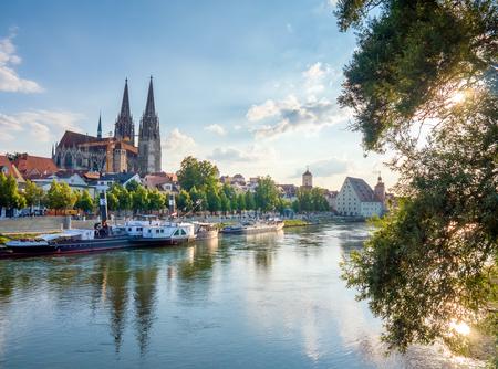 the bavarian city of regensburg in der oberpfalz Reklamní fotografie