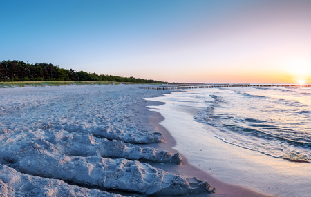 the baltic coast of germany in the summer Banque d'images