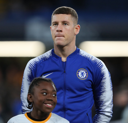 LONDON, ENGLAND - MARCH 7 2019: Ross Barkley of Chelsea during the Europa League match between Chelsea and Dynamo Kyiv at Stamford Bridge.