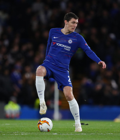 LONDON, ENGLAND - MARCH 7 2019: Andreas Christensen of Chelsea  during the Europa League match between Chelsea and Dynamo Kyiv at Stamford Bridge.