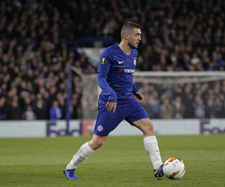 LONDON, ENGLAND - MARCH 7 2019: Mateo Kovacic of Chelsea during the Europa League match between Chelsea and Dynamo Kyiv at Stamford Bridge. Редакционное