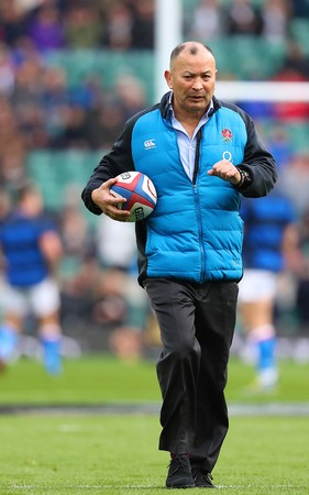 LONDON, ENGLAND - MARCH 09 2019: Eddie Jones Head coach of England during the Guinness Six Nations match between England and Italy at Twickenham Stadium