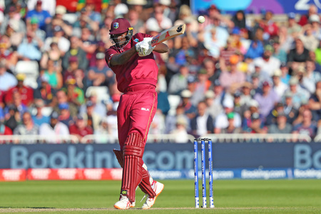 NOTTINGHAM, ENGLAND. 06 JUNE 2019: Jason Holder of West Indies batting during the Australia against West Indies, ICC Cricket World Cup match, at Trent Bridge, Nottingham, England.