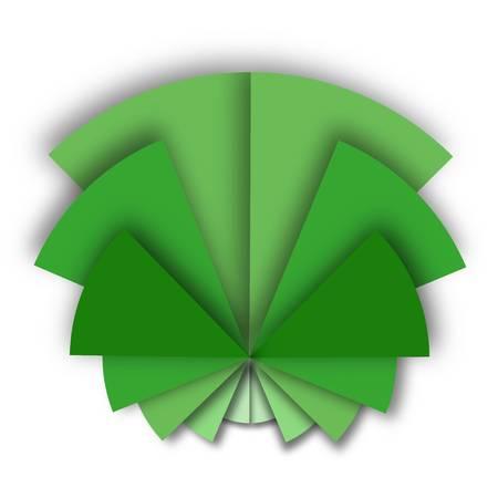 Half triangles in a circular shape logo idea