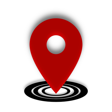 Location Place Red and Black Icon Vector Ilustração