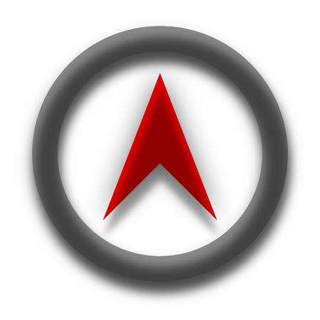 Lugar de ubicación Vector icono rojo y negro