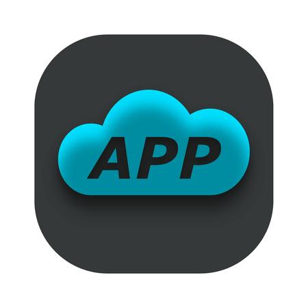 Cloud App Icon Vector Design Template