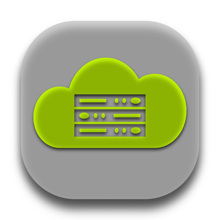 Coud Hosting Servers Application Logo and App Icon Concept Design Vector