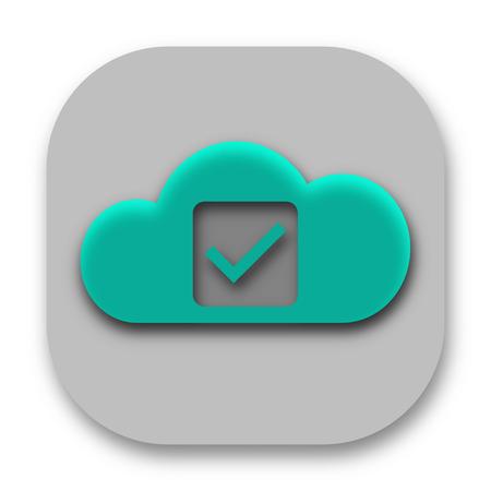Green Check Mark Cloud Business Logo Design