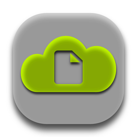 Green Fax Paper Coud App Icon and App Logo Concept Vector