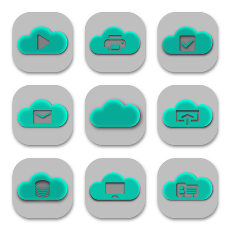 Collection of Modern Cloud App Icons and Logos