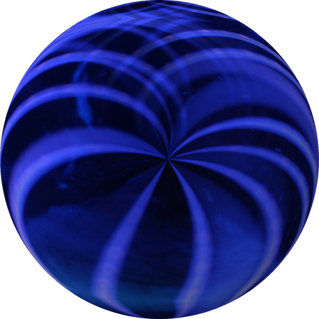 Blue and Black Ball Marble Shape