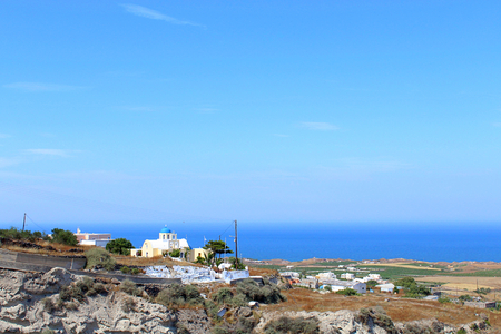 Panoramic Landscape Views of Santorini