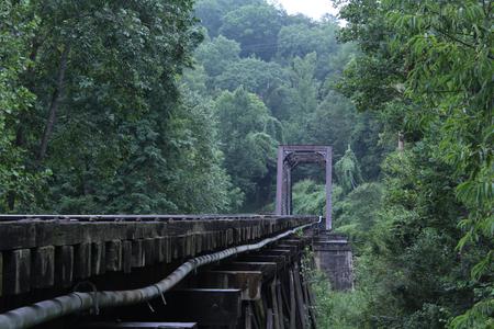 Bridge Made for Steam Engine Trains in America