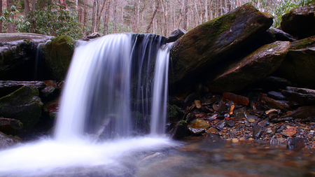 Blurred Motion and Slow Shutter Speed Water Fall Photography in the American Forest.
