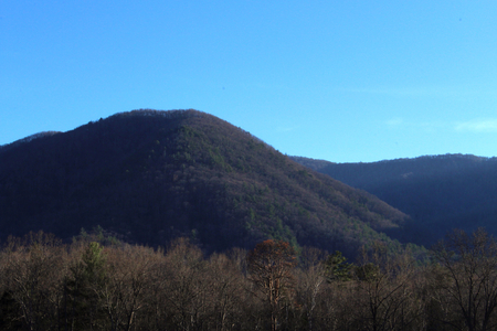 Landscape Photography of Great Smoky Mountains in North Carolina on a Clear Blue Day.