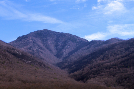 Smoky Mountains Landscape During the Fall and Winter Seasons.