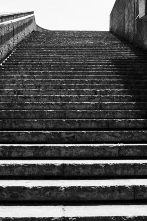 stone stairway in blackwhite