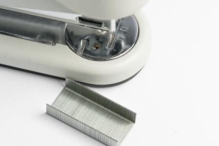 stapler with staple on white background 写真素材
