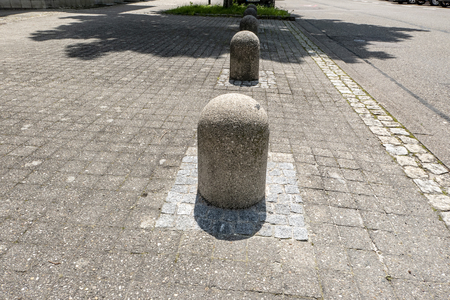 Bollards as safety on the street in the city 写真素材
