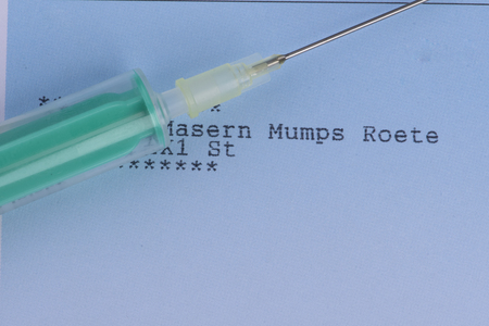 Mandatory vaccination against mumps syringe with a prescription