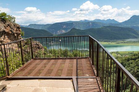 iron bridge at a hiking trail