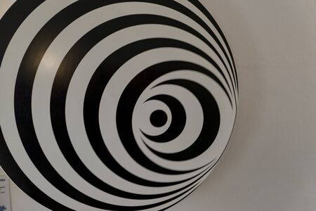 3d black white pattern rotating as background