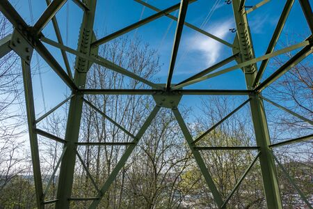 High voltage pylon Steel scaffolding