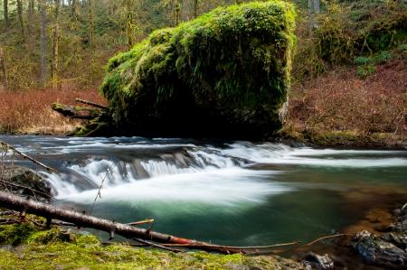 rock along riverside