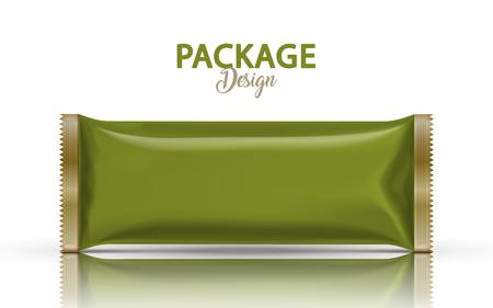 빈 호 일 패키지 디자인, 녹색 matcha 녹색에서 3d 그림에서 식품 용기 모형 템플릿