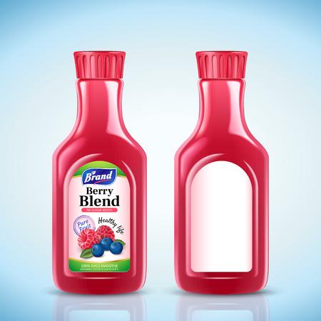 Berry blend juice bottle