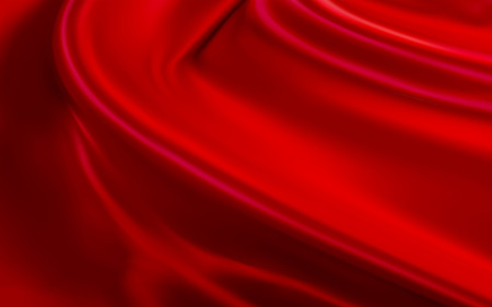 Luxury red satin background, fabrics elements for ceremony or product exhibition in 3d illustration Illusztráció