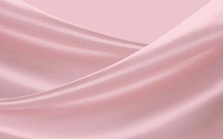 부드러운 분홍색 새틴, 부드러운 직물 배경 디자인을위한 3d 그림에서 사용
