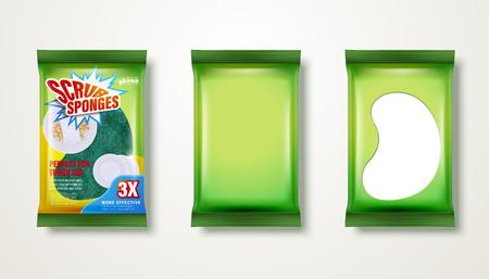 Scrub sponge design set