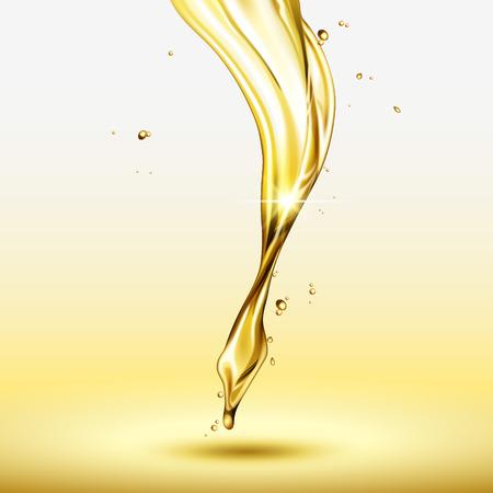 Golden serum liquid in 3d illustration for design uses 向量圖像