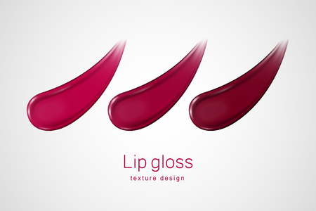 Glossy lip gloss smear texture in 3d illustration on white background Ilustrace