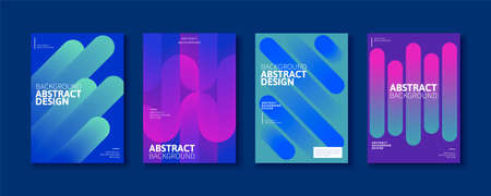 Abstract brochure templates with futuristic gradient linear effect, for flyer, book, magazine cover use