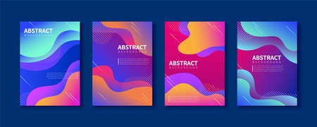 Abstract brochure templates with futuristic gradient effect, for flyer, book, magazine cover use