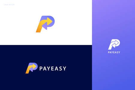 Pay now logo set with double arrow design, concept of crypto wallet, money transfer, and fast mobile payment Çizim