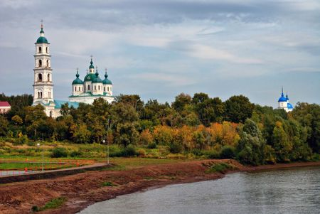 The two orthodox churches and the small river
