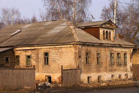 The old demolished house in small town Stock Photo - 6092411