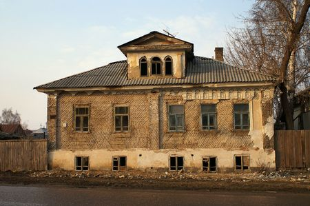 The old demolished house in small town Stock Photo - 6092416